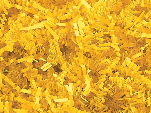 Pack of 1, Yellow Crinkle Cut Paper Shred 10 Lb Spring-Fill Shred Great for Baskets, Basket Boxes, Bags, Containers & Nested Boxes by Generic