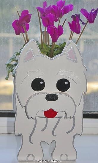 West Highland Terrier (Westie) Puppy Planter Dog Dogs Pet Pets Garden  Ornaments Decorations