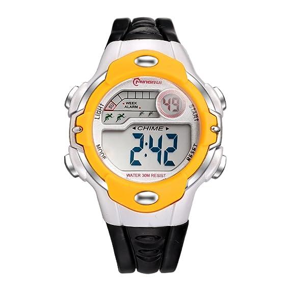Niño Relojes digitales,Niña Chico Impermeable Multifunción Reloj deportivo Goma Correa con hebilla pasador-I: Amazon.es: Relojes