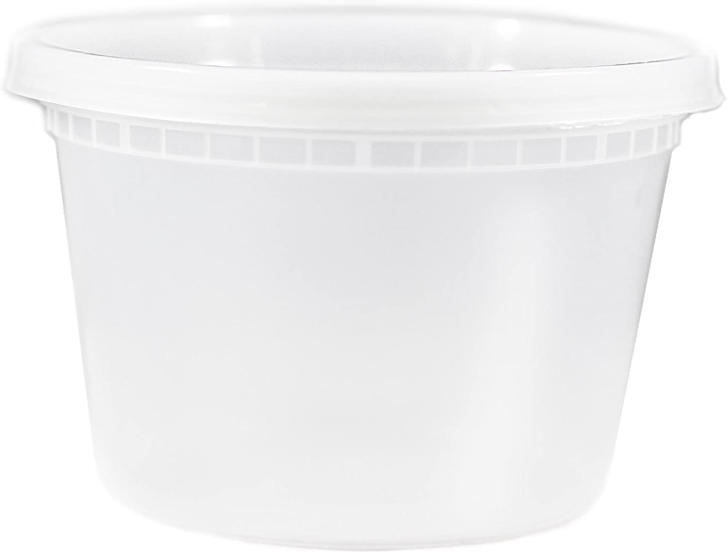 EDI Food Storage Deli Containers with Plastic Lids, 12 Ounce (25 Pack)