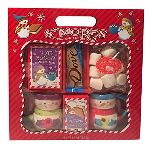 Holiday S'mores & Hot Cocoa Gift Set w/ Ceramic Mugs -