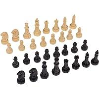 Homyl 32pcs Pièces de Jeu D'échecs Pion en Bois Idéal pour développer Stratégie