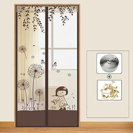 J&DSSSU - Cortina de Mosca para Puerta con Malla Resistente para Puertas correderas, Sala de Estar, habitación de los niños, Puertas francesas, balcón, 80 x 200 cm: Amazon.es: Hogar