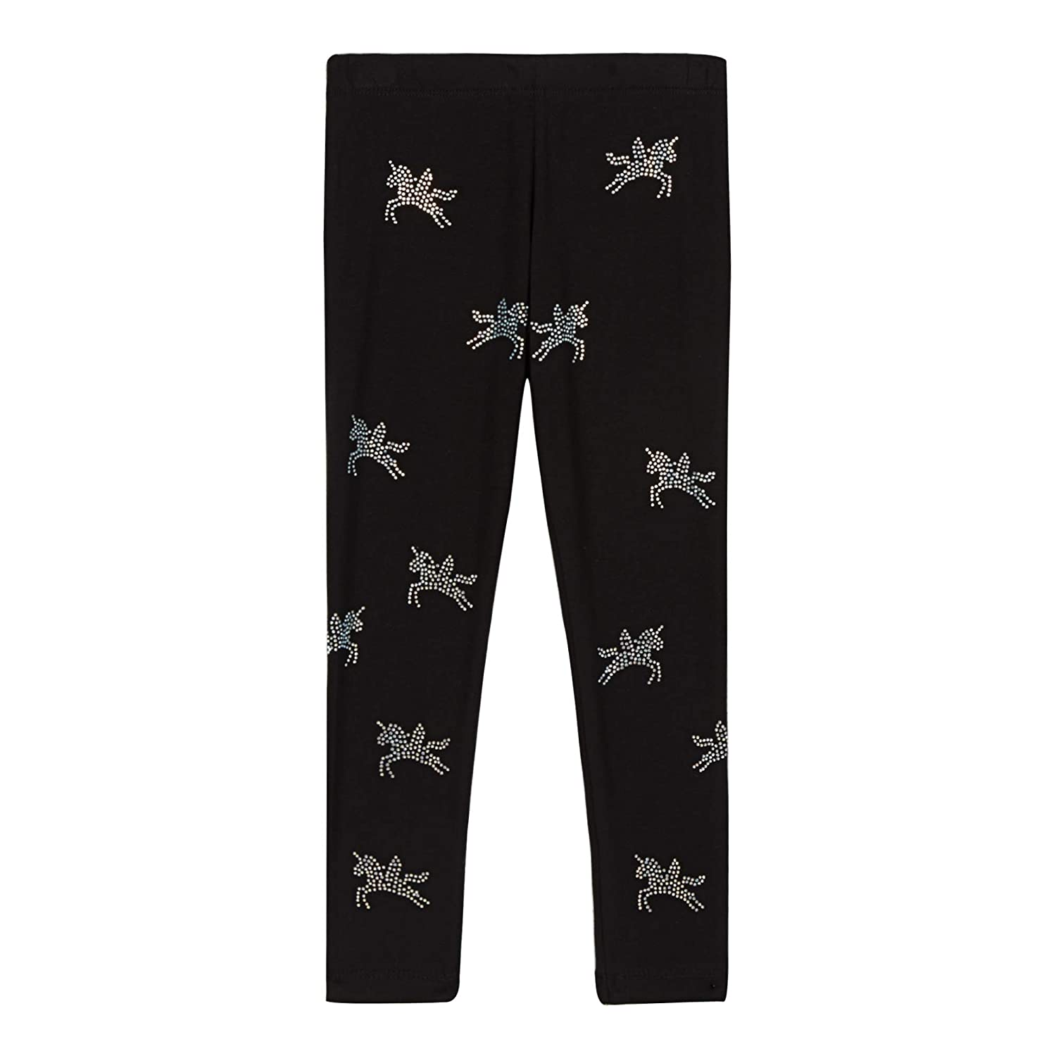 bluezoo Girls' Black Diamante Unicorn Leggings Age 4-14 Years