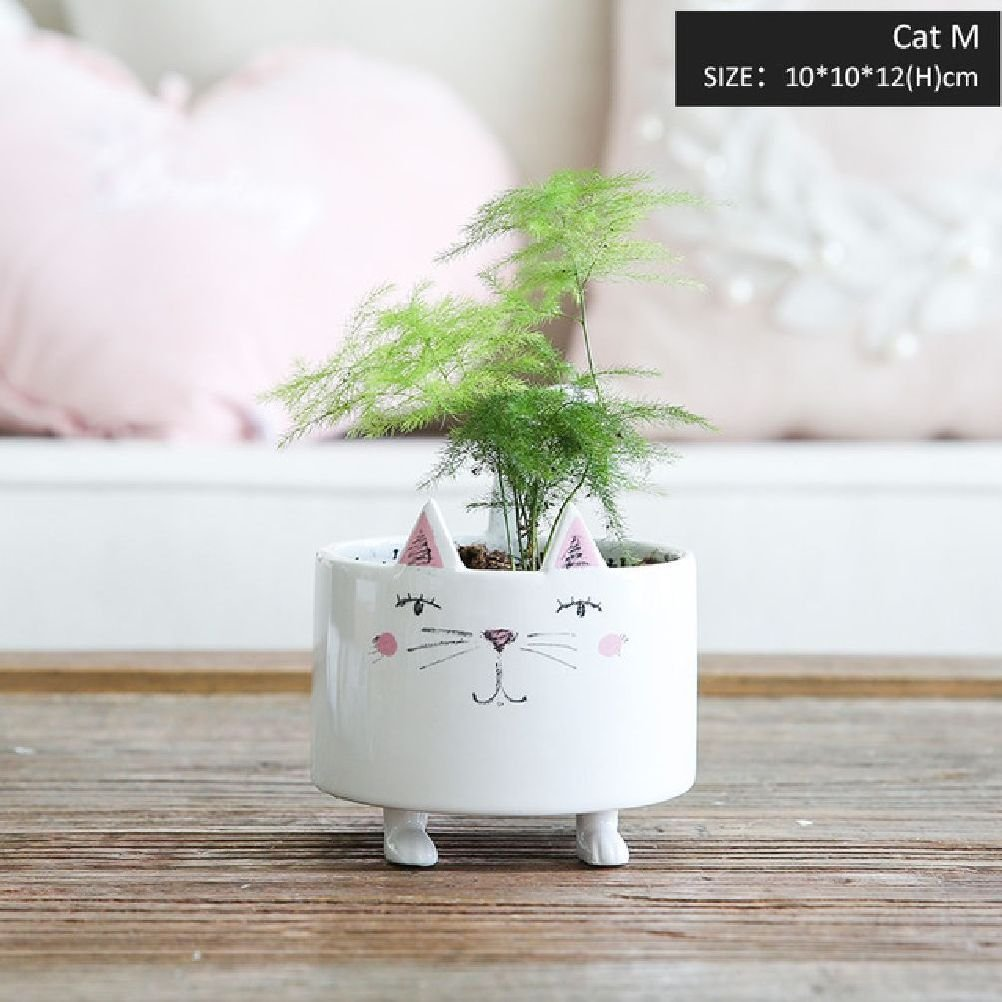 Inteeon home series 1 Piece Vase Cute Animal Figure Ceramic Vase Accessories Decor Small Pot Gift