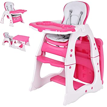 Portable Baby Highchair Infant High Feeding Seat  5 in1 Toddler Table Chair Blue