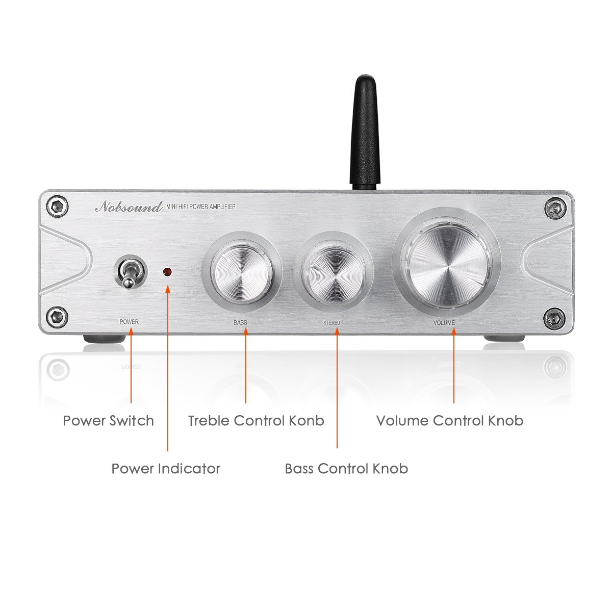 Nobsound 200w 100w2 Bluetooth 50 Atpx Hd Power Upgrade 2 X 65w Tda7498e Tripath Amp Class Stereo Amplifier Included D Hifi Digital Treble Bass Tone Control Home Audio Theater