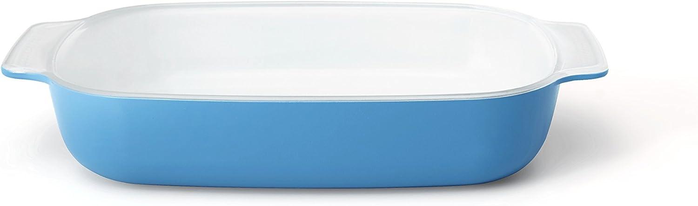 Creo SmartGlass Cookware, 1-quart Baking Dish, Mediterranean Blue