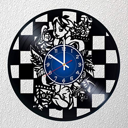 Alice's Adventures in Wonderland 12 inches / 30 cm DISNEY Vinyl Record Wall Clock | DISNEY Fan Gift | Music Clock | Children's Room Decor Idea Home Art Party | ALICE IN WONDERLAND Cheshire Cat -