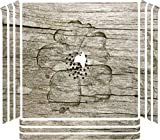 Flower Carved out of Wooden Background Playstation 4 (PRO) PS4 Pro Console Vinyl Decal Sticker Skin by Moonlight Printing