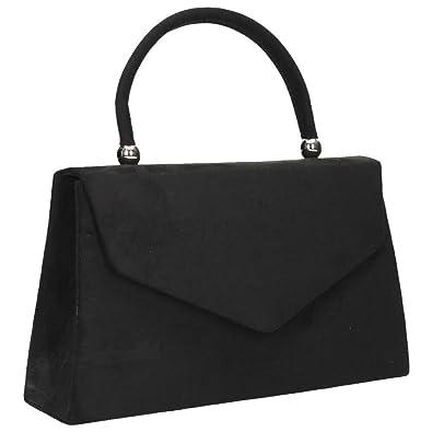 19618d502d55c Wocharm Womens Ladies Suede velvet Folds Clutch Bag Handbag Bridal Evening  Prom party Clutch Shoulder Bag