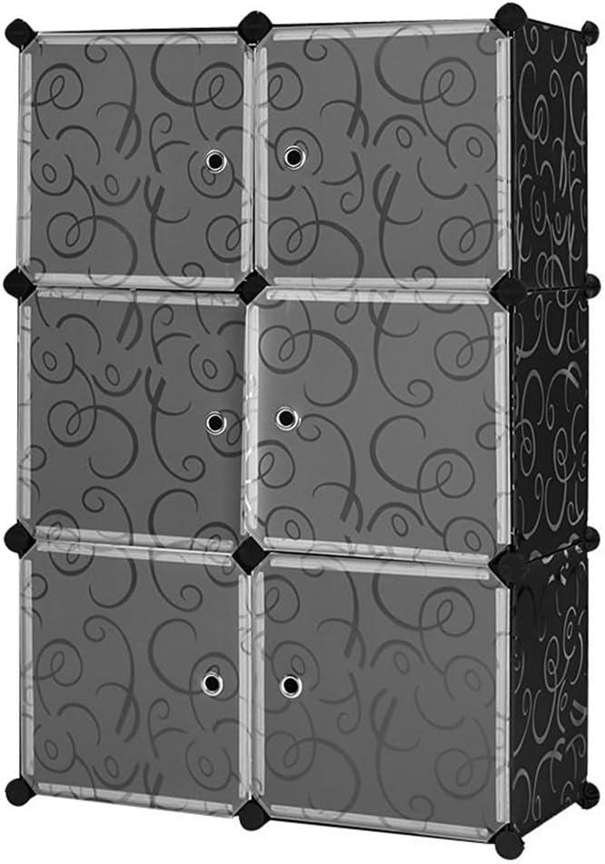 MCTECH DIY Conjunto de estantería Armario empotrable Armario Plegable armarios Cajas de plástico (6, con diseño y Puerta): Amazon.es: Iluminación