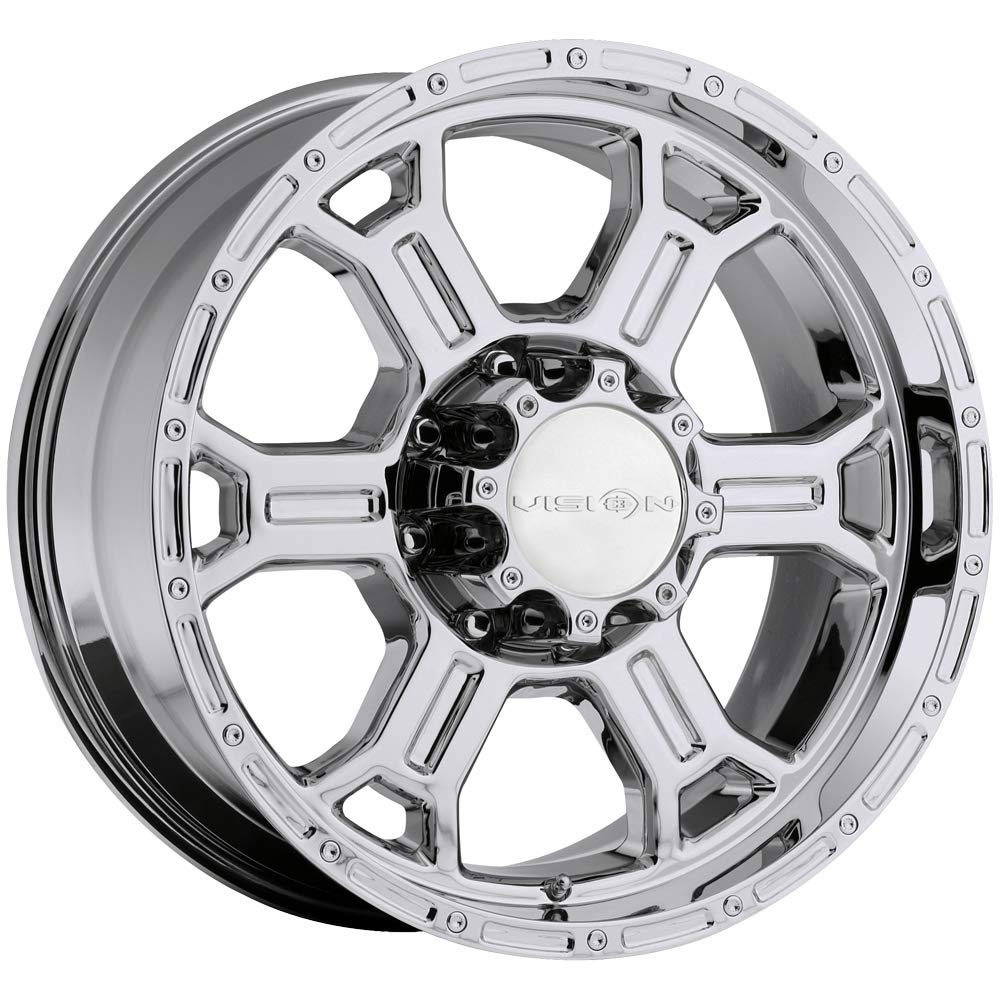17x9//5x127mm Vision 372 Raptor Matte Black Wheel with Painted Finish