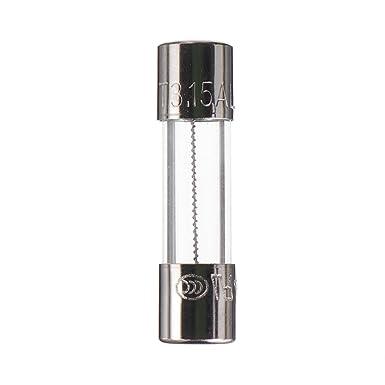 BOJACK F3.15AL250V 5x20 mm 3.15A 250V Fusibles /à fusion rapide 3.15 Amp/ère 250 Volt 0.2 x 0,78 pouce Fusibles /à tube de verre paquet de 20 pi/èces