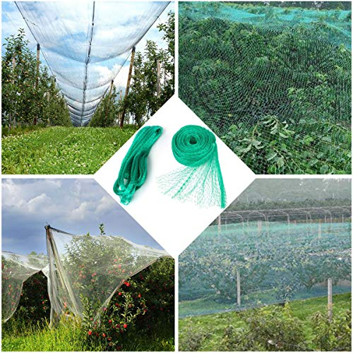 Plant Net - Green Anti Bird Protection Net Mesh Garden Plant Netting Protect Plants and Fruit Trees from Rodents Birds Deer Best for Seedlings,Vegetables,Flowers, Fruits,Bushes,Reusable Fencing (13.2Wx33L(Ft))