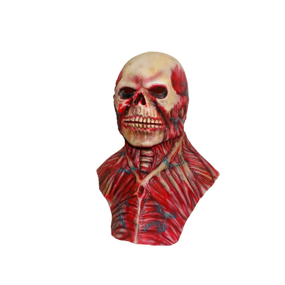 Amazon.com: The Walking Dead Skeleton Mask - Scary Mask - Halloween Costume Mask - Latex Mask - Mascara de Terror: Clothing