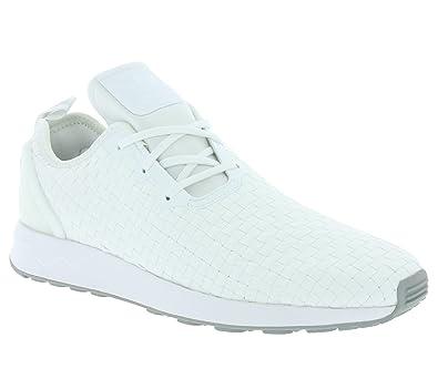 3db003c8d adidas Originals ZX Flux ADV Asymmetrical Primeknit Schuhe Sneaker  Turnschuhe Weiß S76375