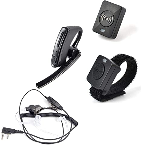 Amazon Com Hys 2 Way Radio Wireless Bluetooth Earpiece Headset With Wire Coil Earbud Audio Mic Surveillance Kit Earpiece For Kenwood Baofeng Uv 5r Bf 888s Retevis H 777 Walkie Talkies Gps Navigation