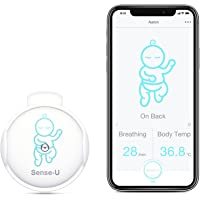 (Newest Model) Sense-U Smart Baby Movement Monitor with Breathing Rollover Movement Temperature Sensors: Tracks Your…