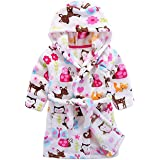 Baby Pajamas Home Service Boys Girls Cow Leopard Print Thick Warm Flannel Bathrobe Night-Robe SIN vimklo 1-10Years