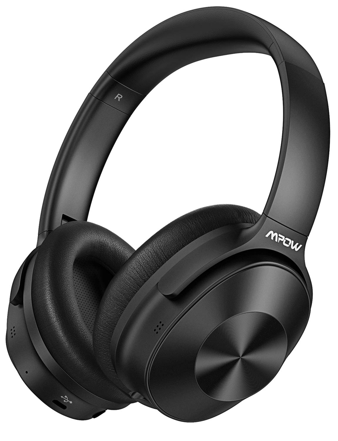 Mpow Hybrid Active Noise Cancelling Headphones, Bluetooth Headphones Over Ear [2019 Version] with Hi-Fi Deep Bass, CVC 6.0 Microphone, Soft Protein Earpads, Wireless Headphones for TV Travel Work by Mpow