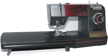 Toyota Super Jeans Máquina de coser Super J26 PE con grandes Zona de trabajo: Amazon.es: Hogar