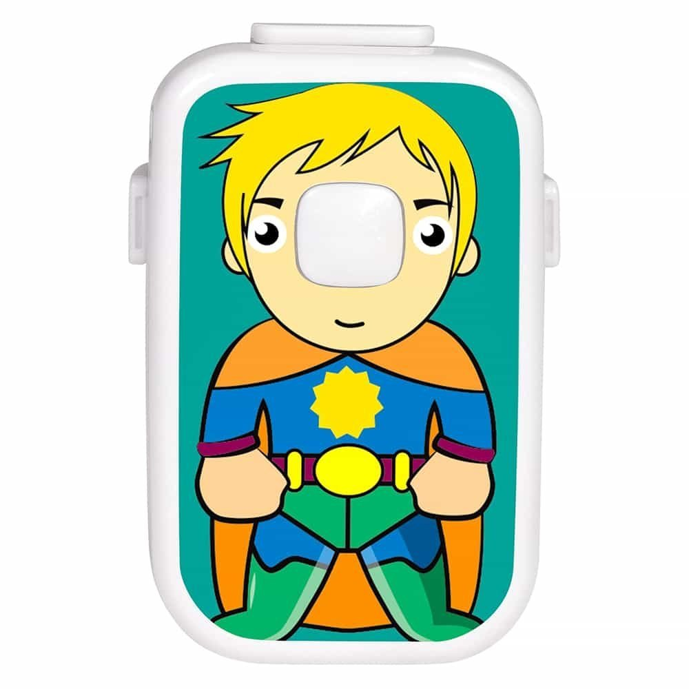 Smart Bedwetting Alarm for Deep Sleepers & Children with Interchangeable Stickers 8 Loud Tones Lights and Vibration; Full Featured Low Cost Bed wetting Enuresis Alarm to Permanently Stop Bed-wetting