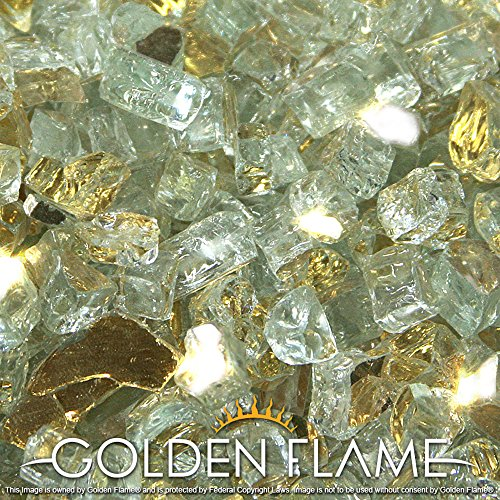 Golden Flame%C2%AE 10 Pound Reflective Fireplace