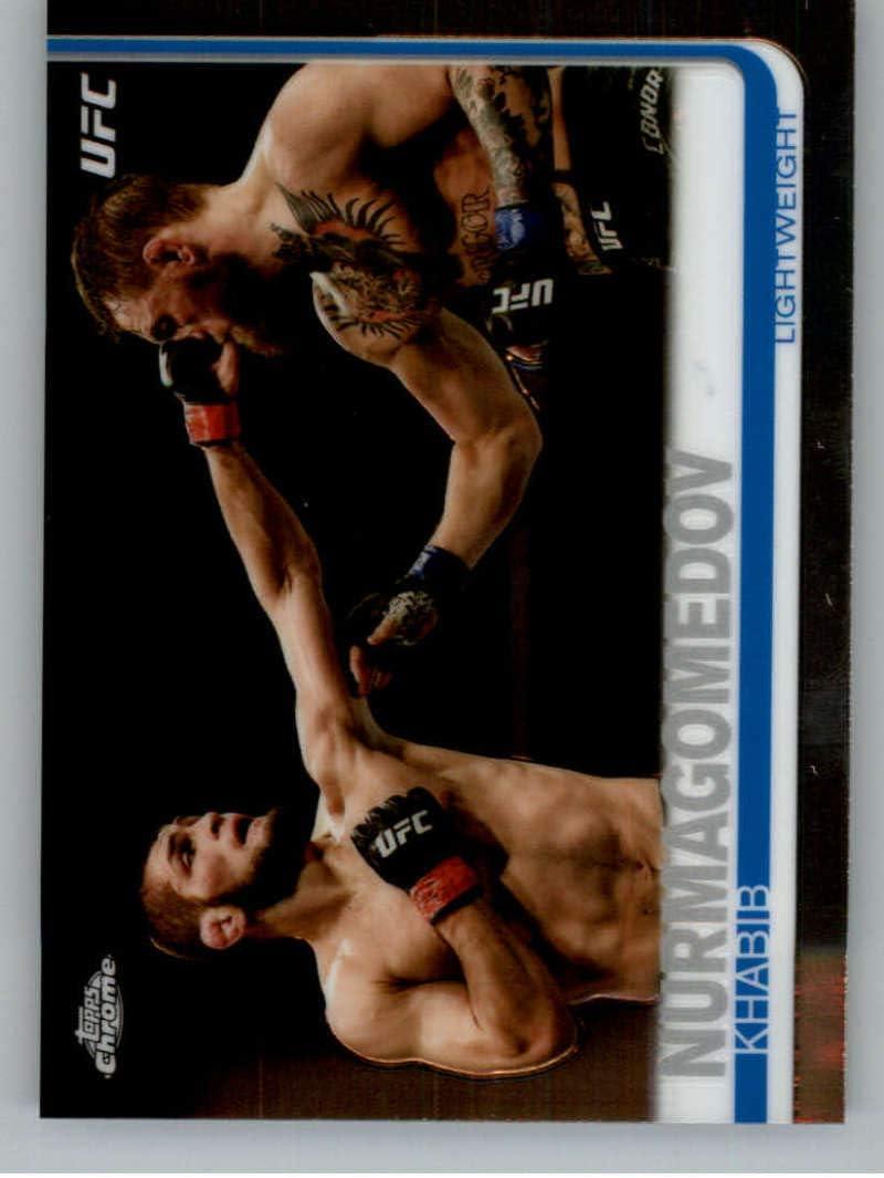 2019 Topps UFC Chrome MMA #25 Khabib Nurmagomedov Lightweight Official Ultimate Fighting Championship Trading Card