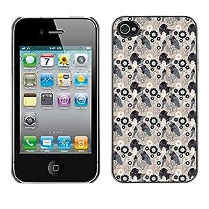 ZECASE Funda Carcasa Tapa Case Cover Para Apple iPhone 4 / 4S No.0003066