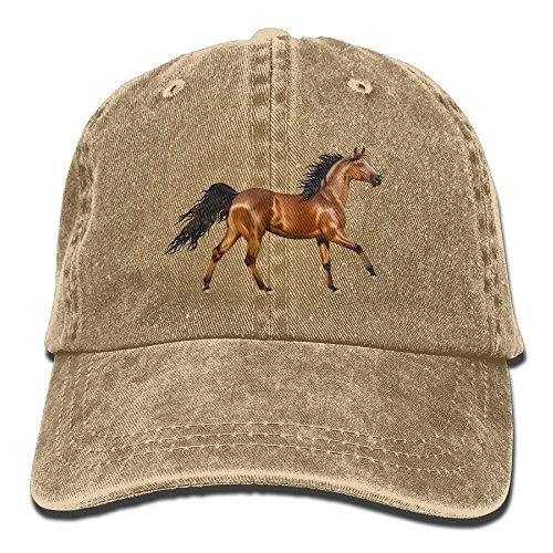 Arsmt 3D Horse Denim Hat Adjustable Men Dad Baseball Cap