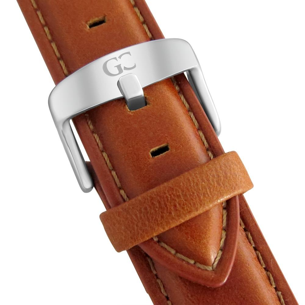 Gelfand & Co. Quick Release Interchangeable Watch Strap Light Brown Genuine Leather 18mm Silver by GC Gelfand & Co. (Image #2)