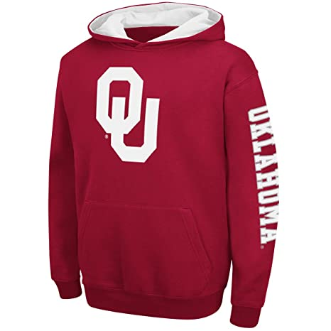 4c2f914a2aea Youth Oklahoma Sooners Crimson Screened Zone Pullover Hoodie Sweatshirt  (XL-18 20)