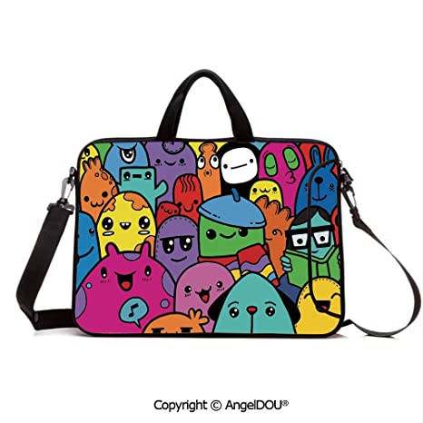 Amazon.com: AngelDOU Customized Neoprene Printed Laptop Bag ...