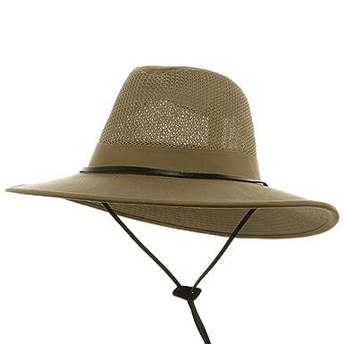 9bb6ab3518f510 DPC/Scalar UPF 50+ Brushed Twill Mesh Safari Hat-Camel M at Amazon ...