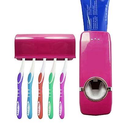 Montado en la pared dispensador de pasta de dientes y cepillo de dientes titular Set,