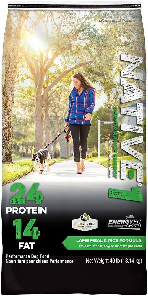 Native Performance Dog Food Level 1 24:14 Lamb Meal and Rice Formula, 40-Pound
