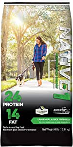 Native Performance Dog Food Level 1 24:14 Lamb Meal and Rice Formula, 40-Pound