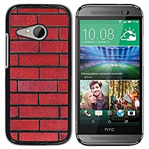 Be Good Phone Accessory // Dura Cáscara cubierta Protectora Caso Carcasa Funda de Protección para HTC ONE MINI 2 / M8 MINI // Wall Red Rebel Pattern Law Floyd