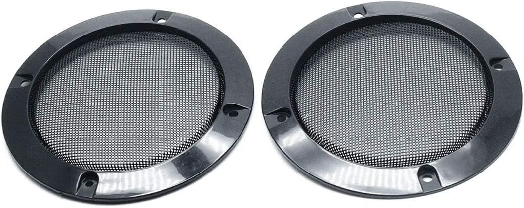 AUTUT 2Pcs 4.9 Mesh Car Stereo Speaker Subwoofer Grill Cover Protector Black