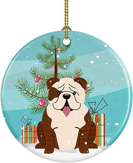 Carolines Treasures Bulldog English Snowflakes Christmas Night Light 6 x 4 Multicolor