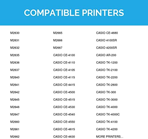 Casio TK 1200 TK-1200 Cash Register Ribbon 6 Pack