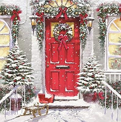 Pack of 8 Festive British Heart Foundation Charity Christmas Cards Xmas Card: Amazon.es: Oficina y papelería