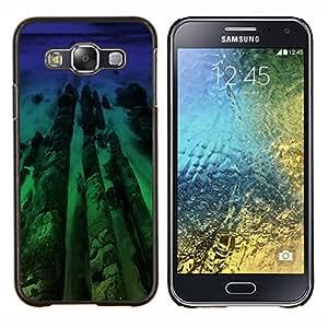 """Be-Star Único Patrón Plástico Duro Fundas Cover Cubre Hard Case Cover Para Samsung Galaxy E5 / SM-E500 ( Neon Beach Madera"""" )"""