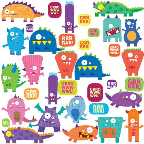 RoomMates Monsters Peel and Stick Wall Decals -