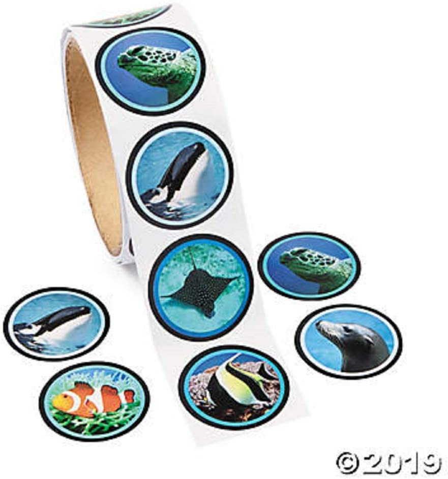 FX Realistic Ocean Life Stickers (2 Rolls of 100 Stickers)