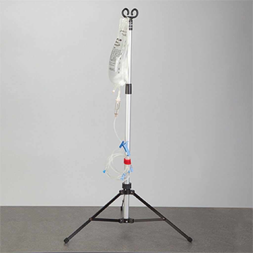 MedValue Portable IV Pole, 2-Hook, Quantity : 1