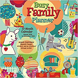 Busy Family 2019 18-Month Wall Calendar Planner: Sellers ...