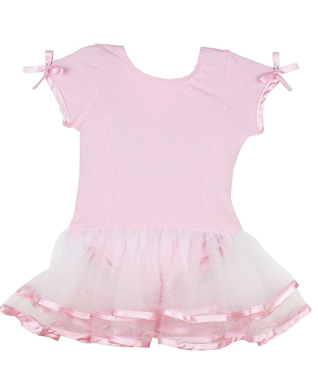 RuffleButts DRESS ベビーガールズ B009DKDB6I ピンク/ホワイト 12-24 Months