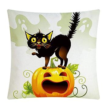 Amazon.com: Fundas de almohada de Halloween, Whitelotous ...